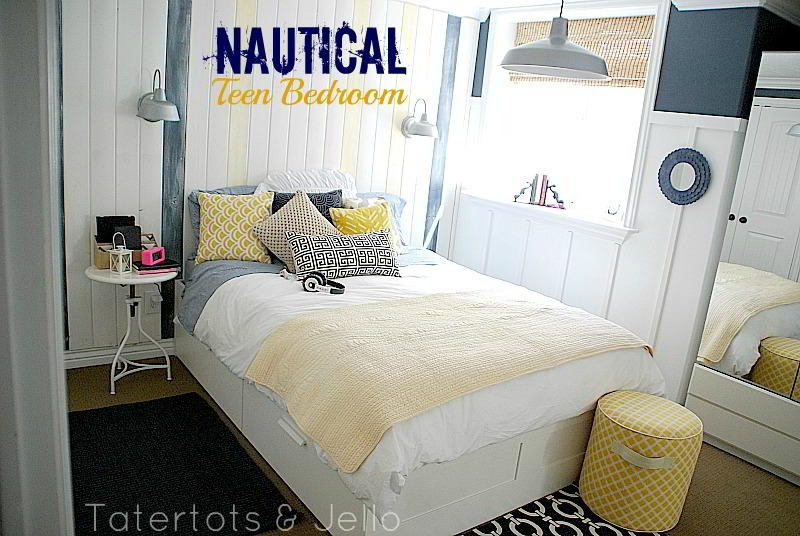 Tatertots and Jello home tour on Teenager Basement Bedroom  id=18584