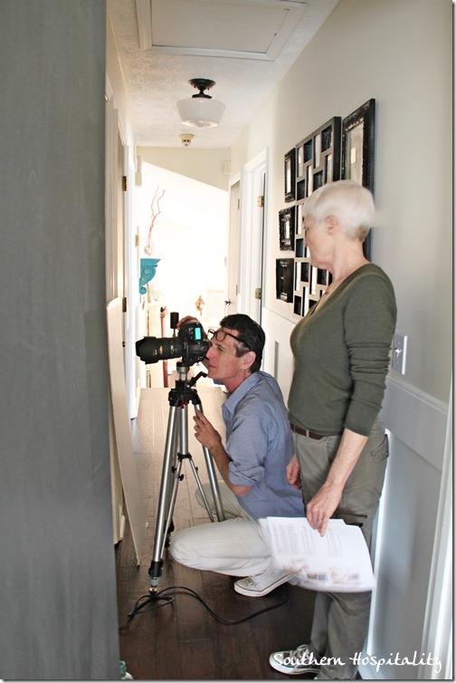 photographing bathroom