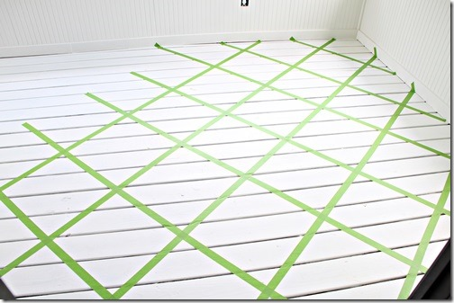 Frogtape on floor