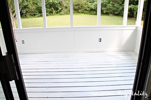 Porch is getting closer southern hospitality for One coat white paint