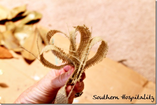burlap bow on wreath
