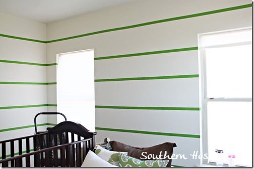 walls taped with Frogtape