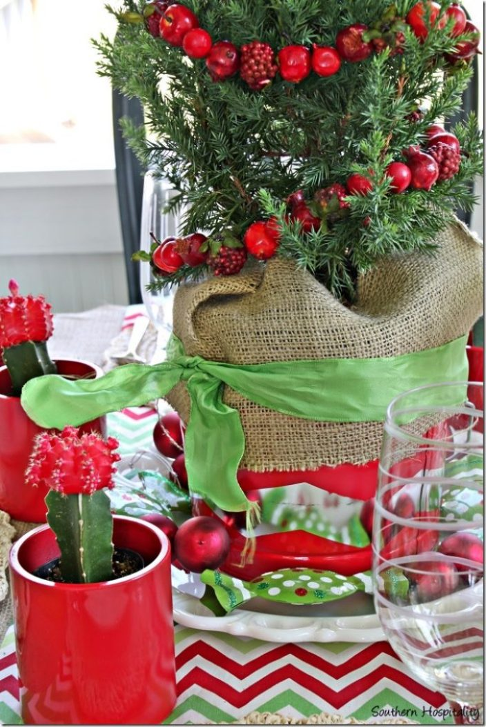 bucket and ornaments