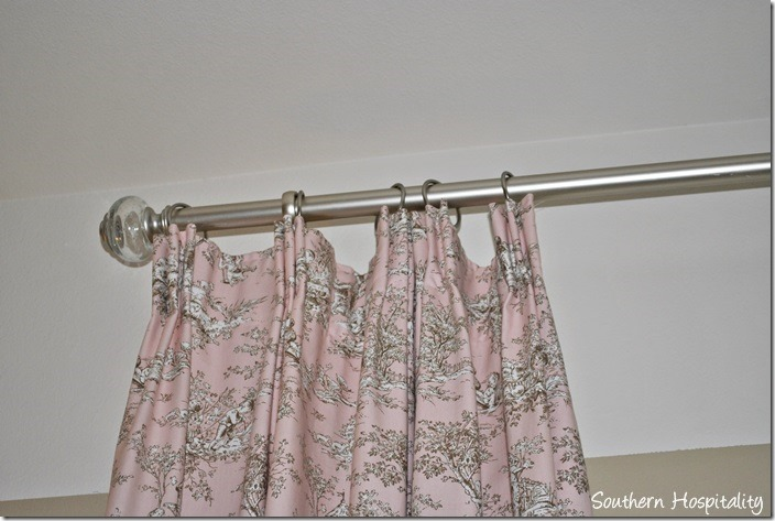 toile top of drape
