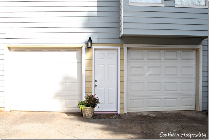 garage side after