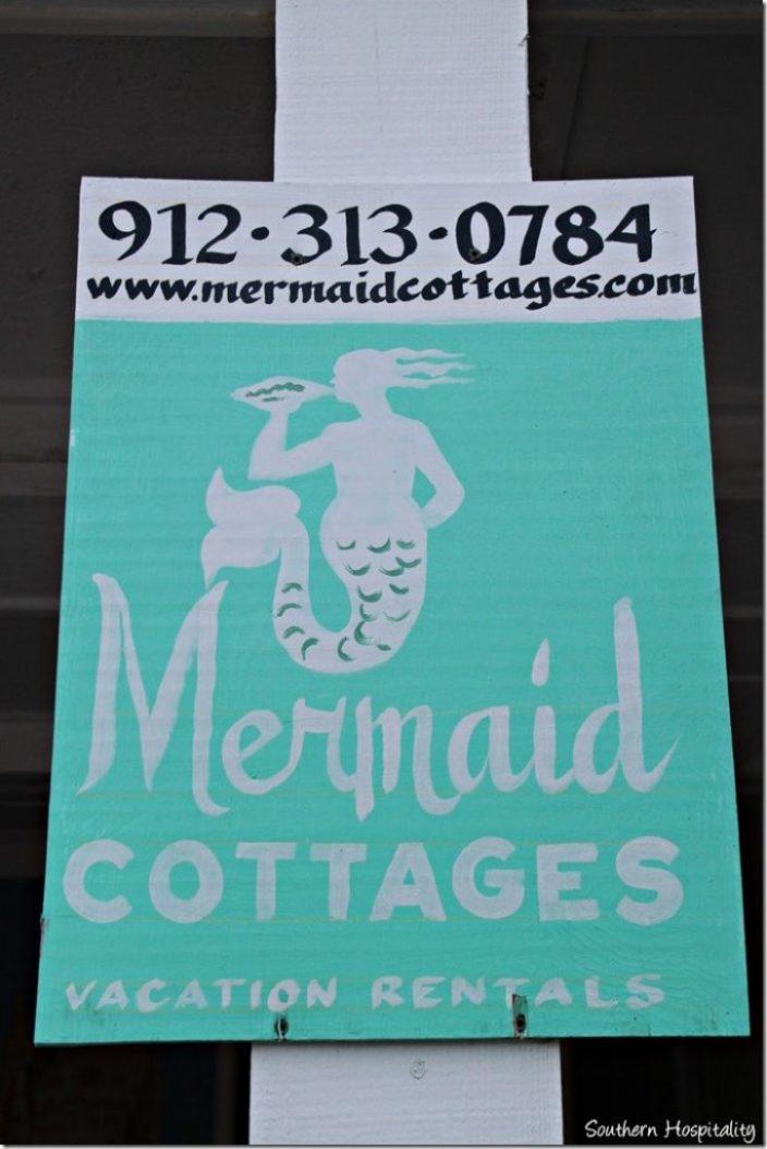 mermaid cottage sign