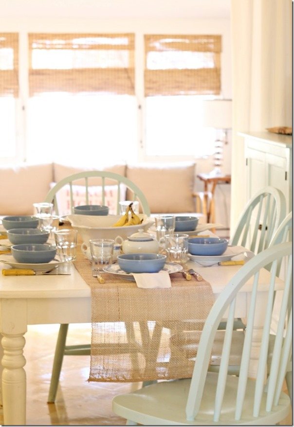 table setting star cottage