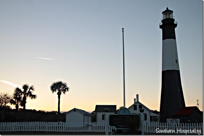 tybee lighthouse sunset