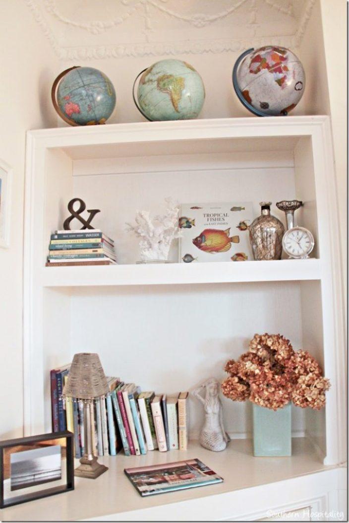 white caps bookshelf