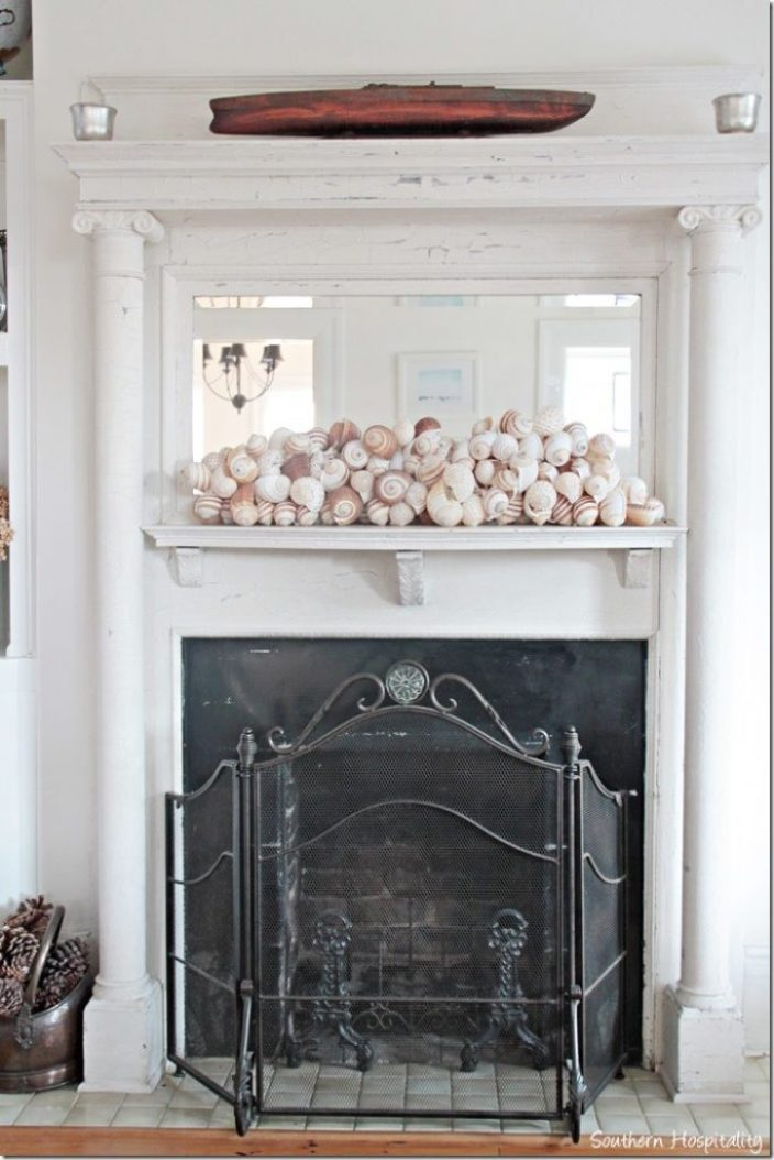 white caps fireplace