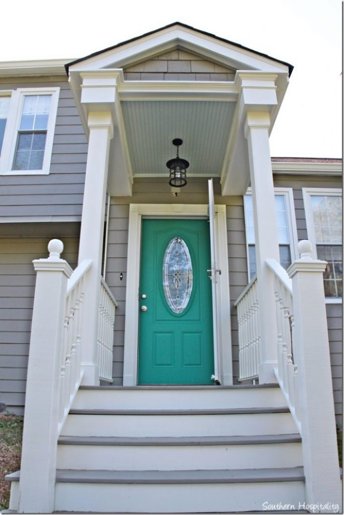 pop of color front door