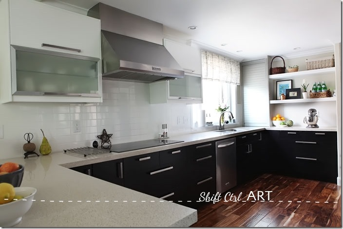 Kitchen-remodel-after-IKEA-Caesar-stone-Acacia-hardwood-DIY-8