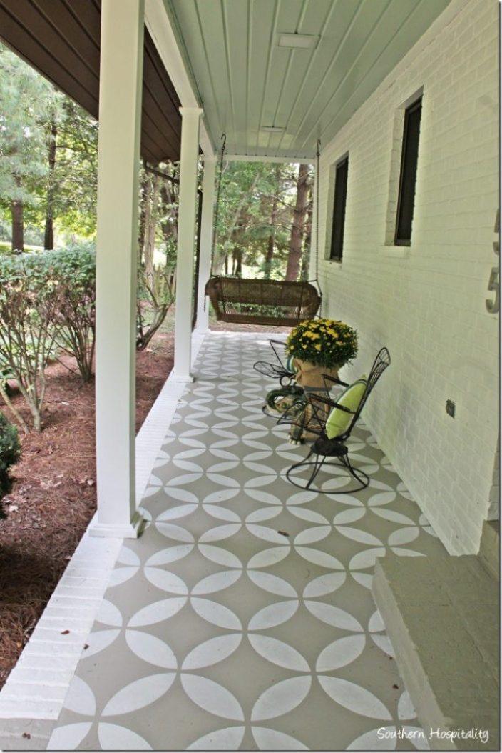 porch with stencil