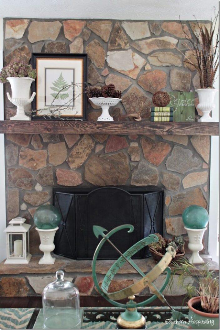 fall fireplace