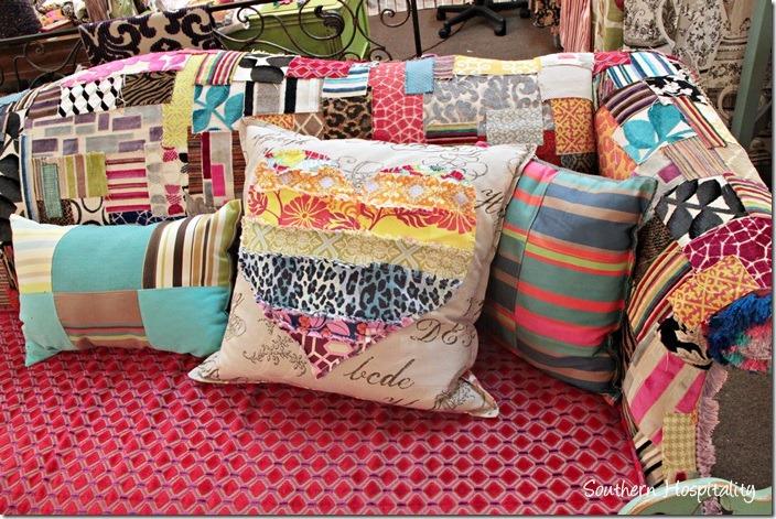 sew knot sofa pillows