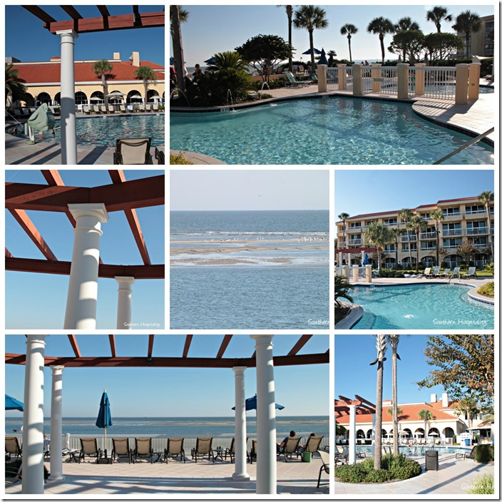 Pool and beach Collage