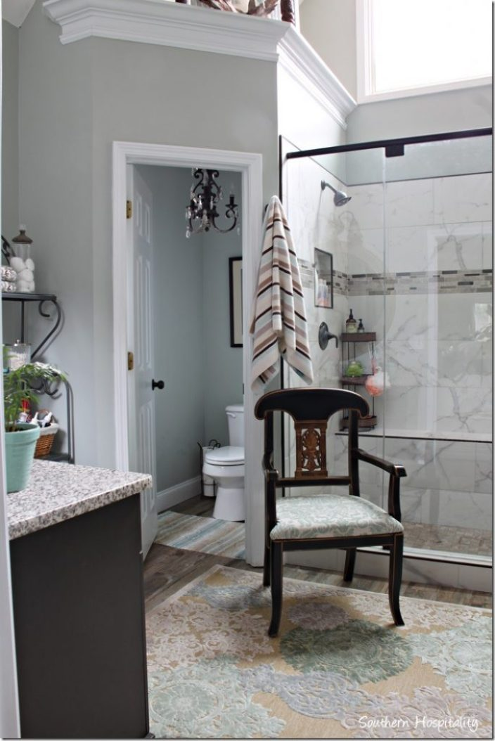 looking to water closet