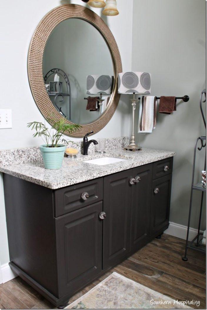 vanity with new granite