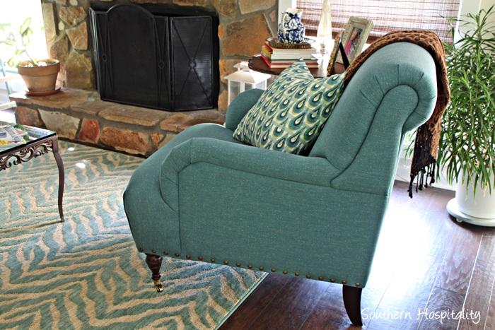 birch lane blue chair