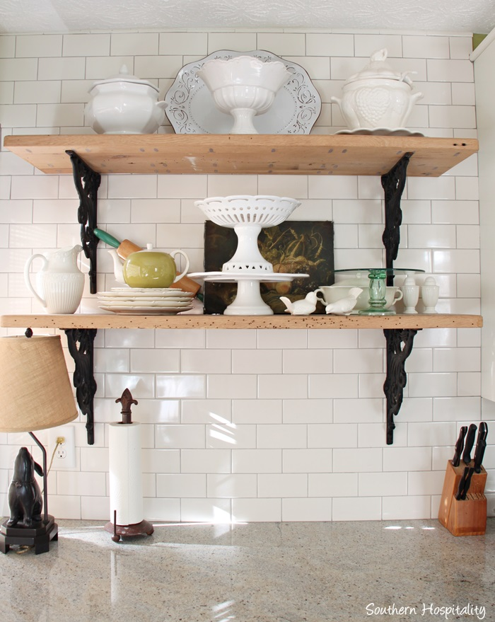 Open Shelves in Kitchens Southern Hospitality