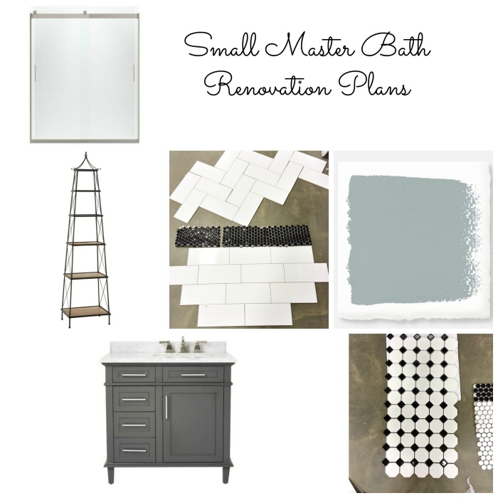 Small Master Bath Collage