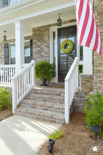Summer-Home-Tour-Front-Porch-with-Ferns-on-either-side-of-door