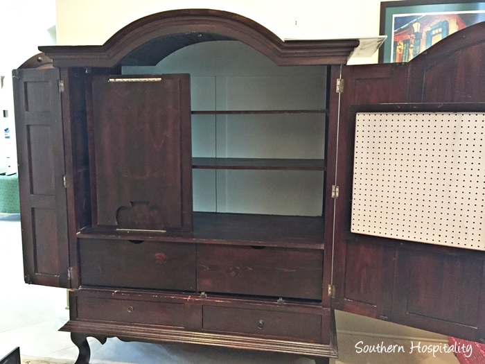 ... Sewing Armoire Conversion012