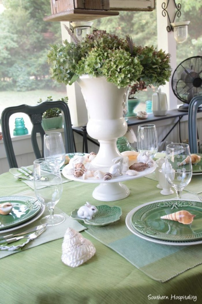 summer table green011