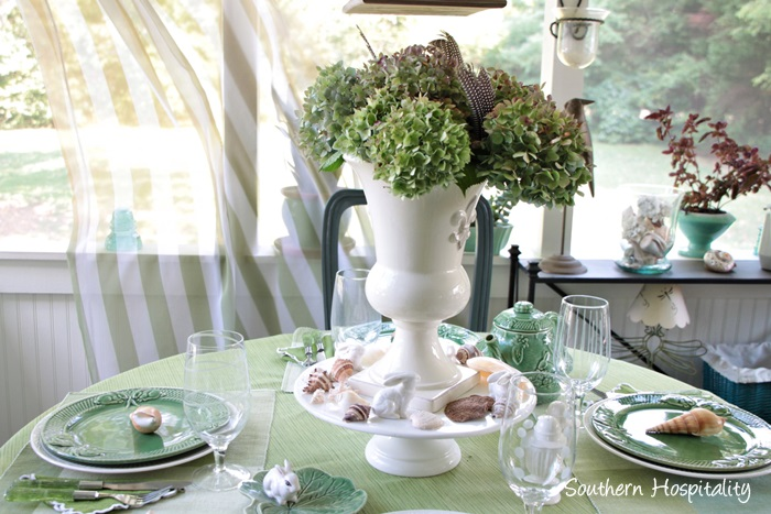 summer table green017