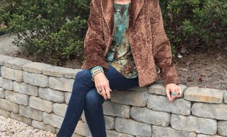 Fashion over 50:  Goodwill Faux Fur Jacket