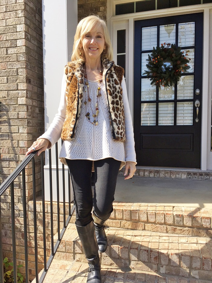 1a4b324d8b1 Fashion over 50  Casual Boots and Sweaters - Southern Hospitality