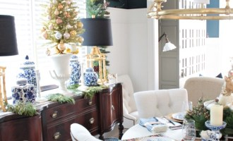 Sparkly Gold Dining Room