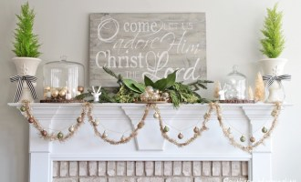 Christmas Kitchen and Mantel