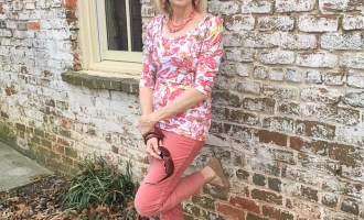Fashion over 50:  Coral Velvet Pants