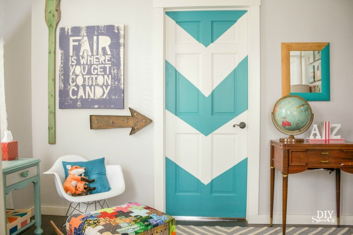 Painting Interior Doors a Color - Southern Hospitality