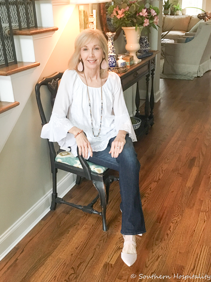 Fashion over 50: Jeans and Blush Shoes