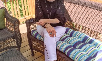Fashion over 50:  Black Lace Top