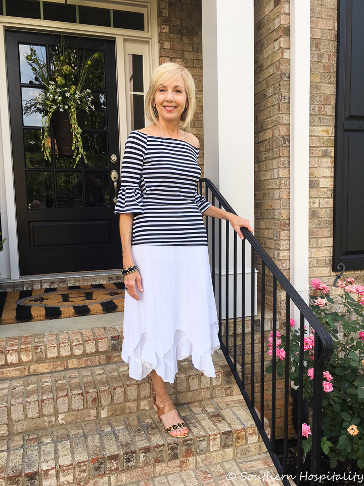 Fashion over 50 Summer Date Night Skirt - Southern Hospitality