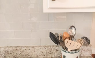 Peel and Stick Tile Installation {Mark's Parents}