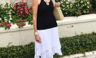 Fashion over 50: White Skirt & Wearing it 3 Ways