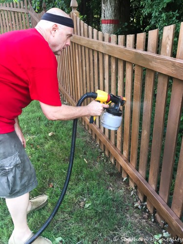 fence staining wagner spray gun 9531 - Staining the New Fence
