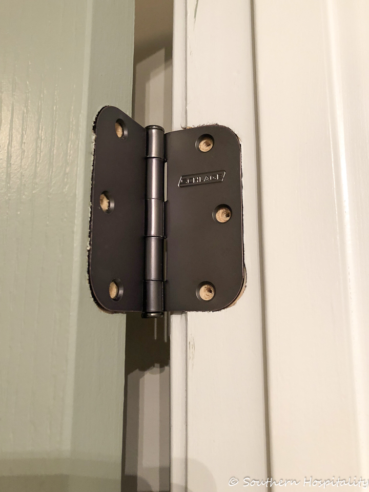 Continue On Down The Door Until All Hinges Are Replaced With The New Ones.  You Just Need To Be Sure You Get The Same Size Hinges That Match The  Grooves You ...