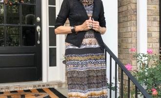 Fashion over 50:  Fall Maxi Dress