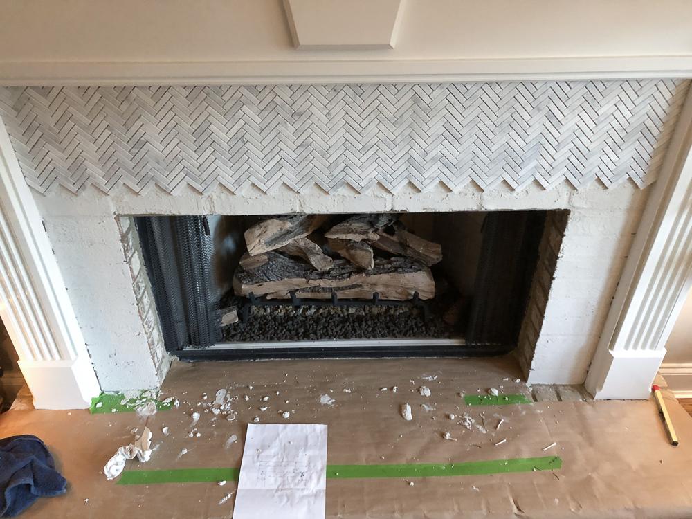 how to add herringbone marble tile to a