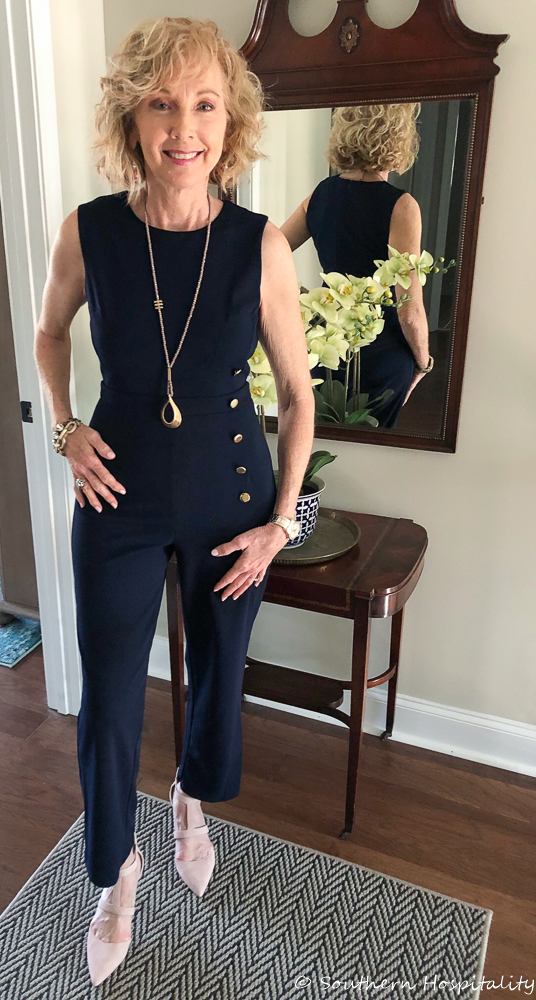 981a70d8 Fashion over 50: Spring Jumpsuit! - Southern Hospitality