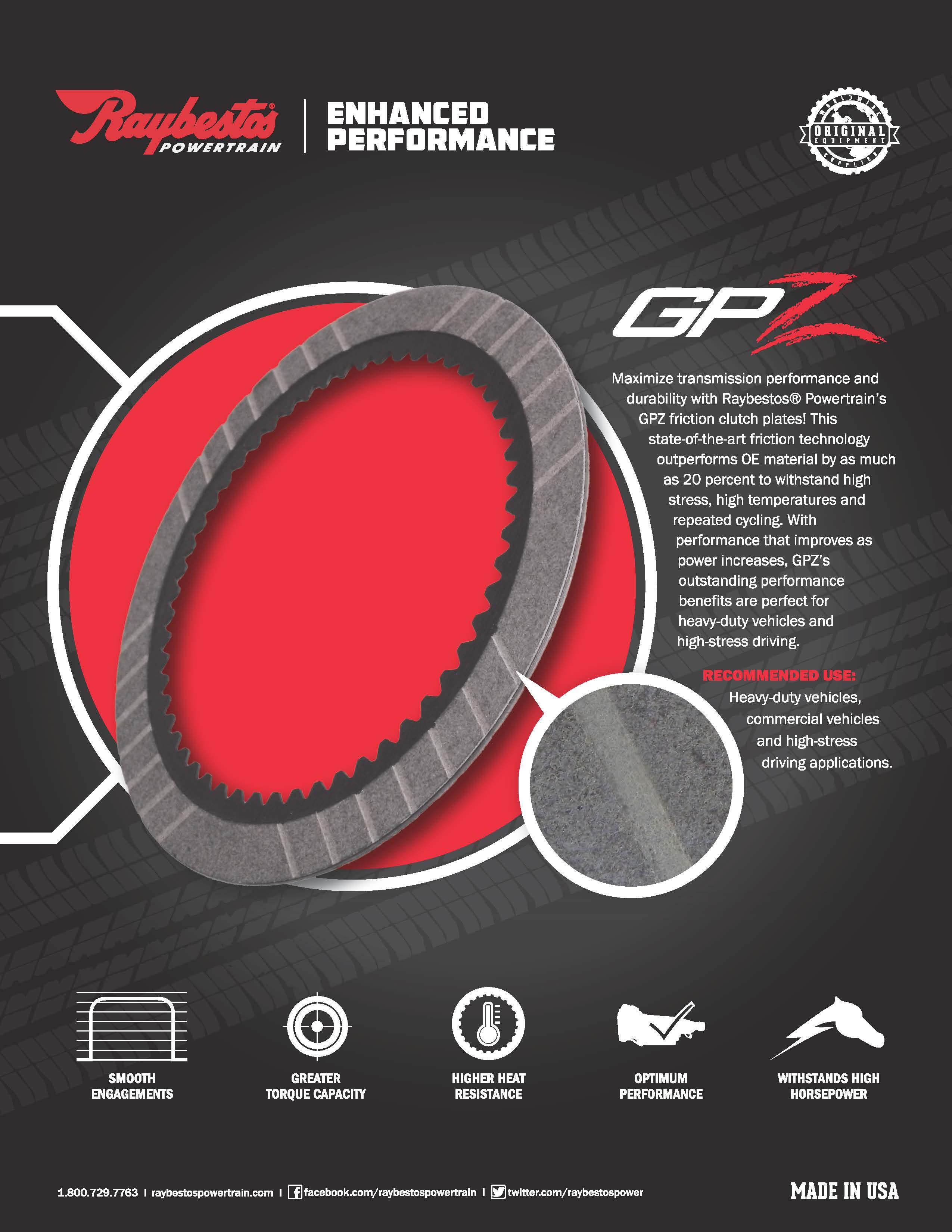 Raybestos Powertrain Gpz Friction Material