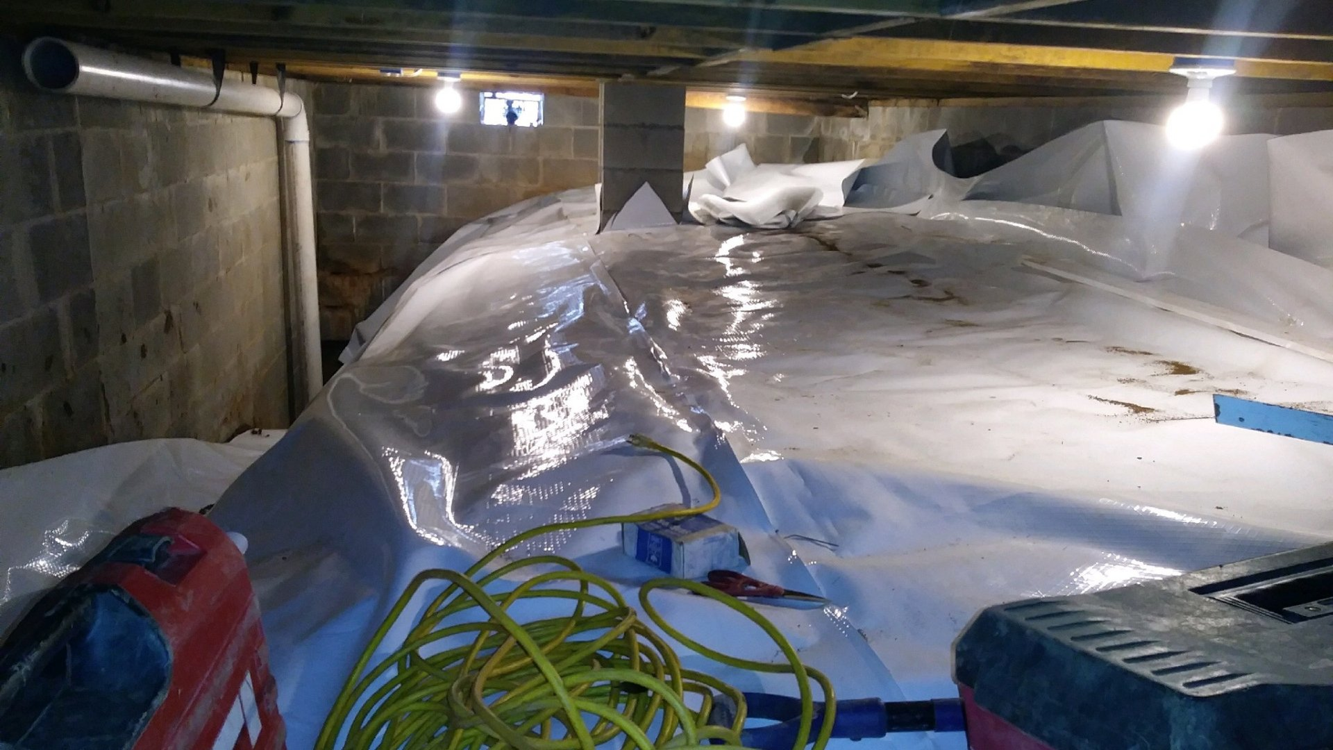 Waterproofing of the Crawlspace