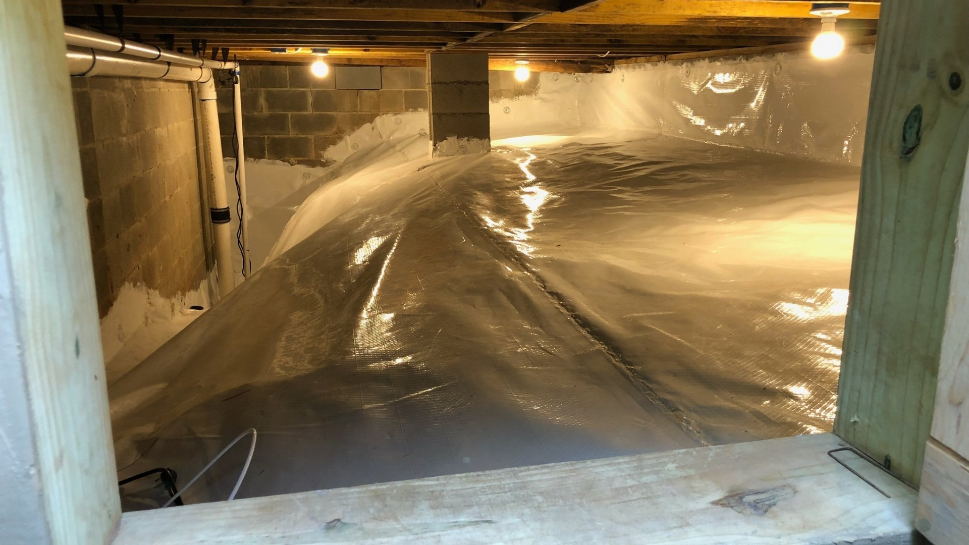 Crawlspace Encapsulation Project Completed Inside
