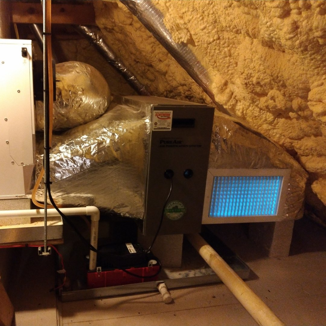 Air Purification and UV Lights in Attic - Gallery