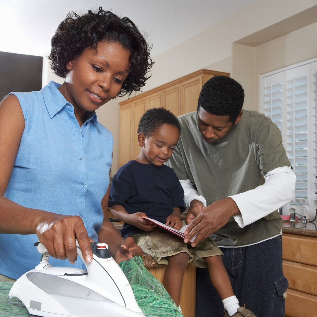 Family Doing Housework - Gallery